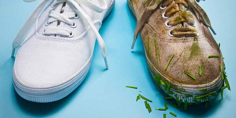 تمیز کردن کفش کتانی با ترفندهای ساده
