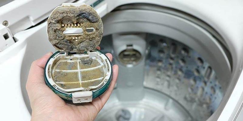کثیف بودن اجزا ماشین لباسشویی