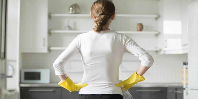 مراحل تمیز کردن آشپزخانه