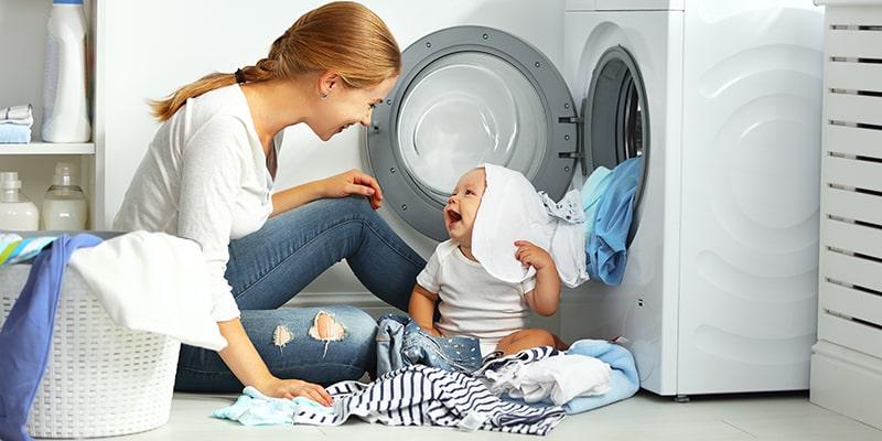 نکات شستن لباس نوزاد با ماشین لباسشویی