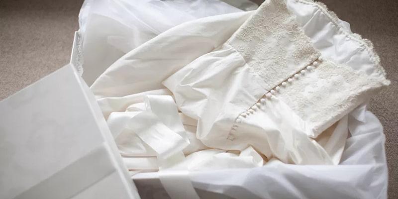 شستشوی کامل لباس عروس
